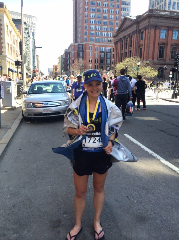 2014 Boston Marathon. We were 3 blocks from our lodging and had to take a cab home. Ow.