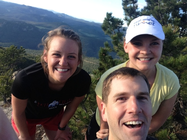 "Running up Bergen Peak for Julia's birthday, get a taste for this ""trail running"" thing"