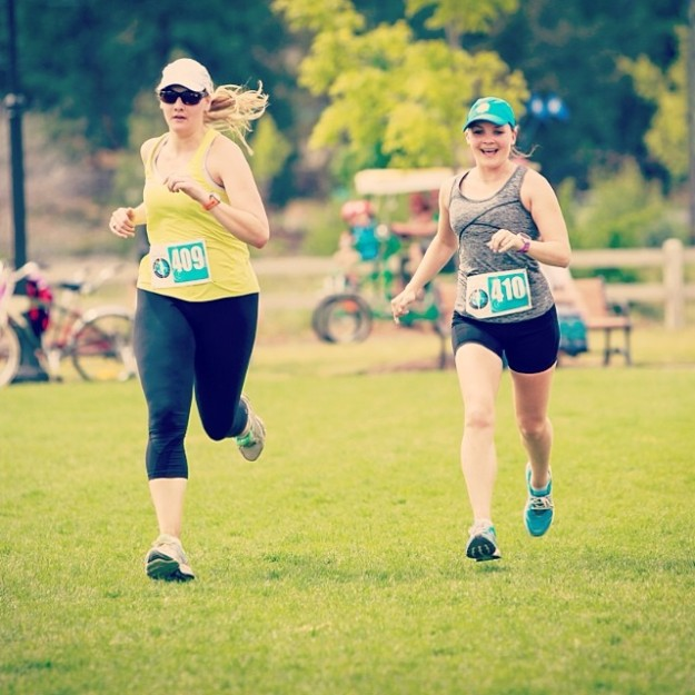 Running a half-marathon with my best friend Anna on her journey toward her first full marathon (see: October below)