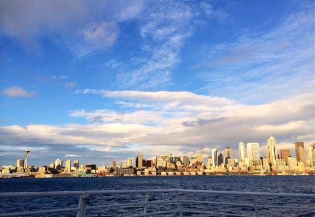 The view from my beloved old commute to/from work in Seattle. I miss this every day.